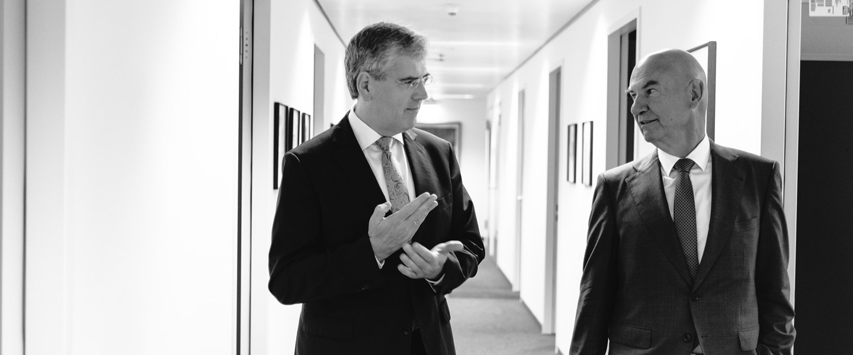 Prof. Dr. Andreas Barckow und Peter Missler im Gespräch